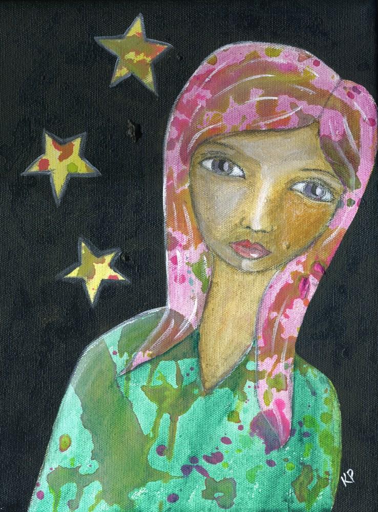"""""""She is Stardust"""" original fine art by Kali Parsons"""