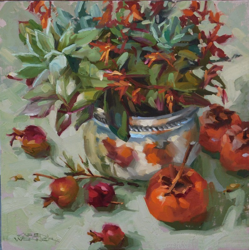 """Succulent"" original fine art by Karen Werner"