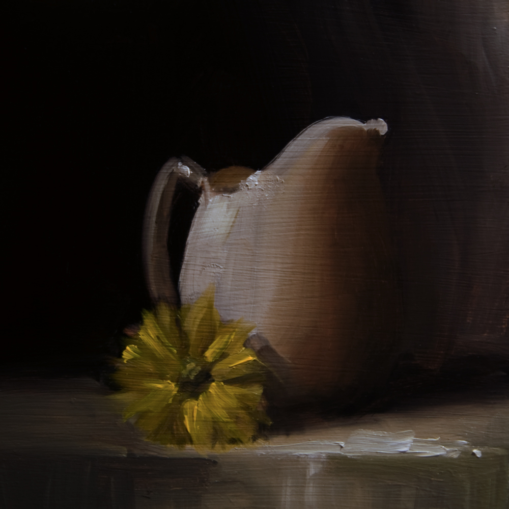 """White Jug"" original fine art by Neil Carroll"