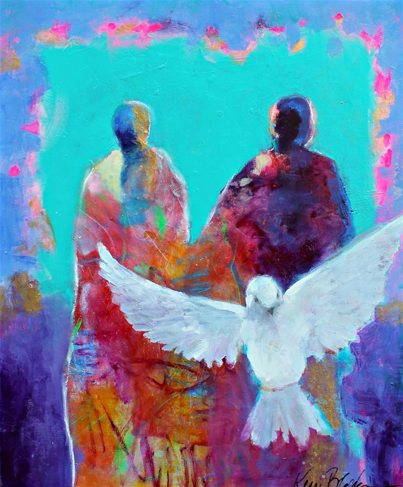 """The Dove Was Sent Out Like a Prayer "" original fine art by Kerri Blackman"