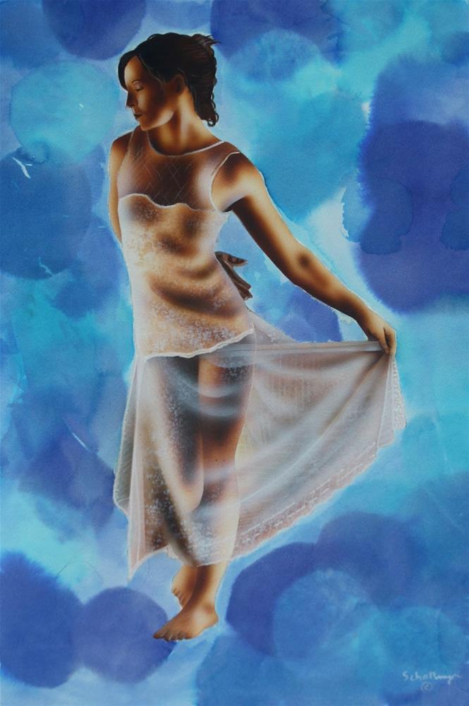 """Dancing with Myself"" original fine art by Fred Schollmeyer"