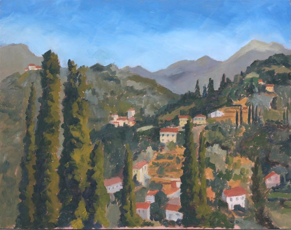 """""""Looking north from the Duomo"""" original fine art by Graham Townsend"""