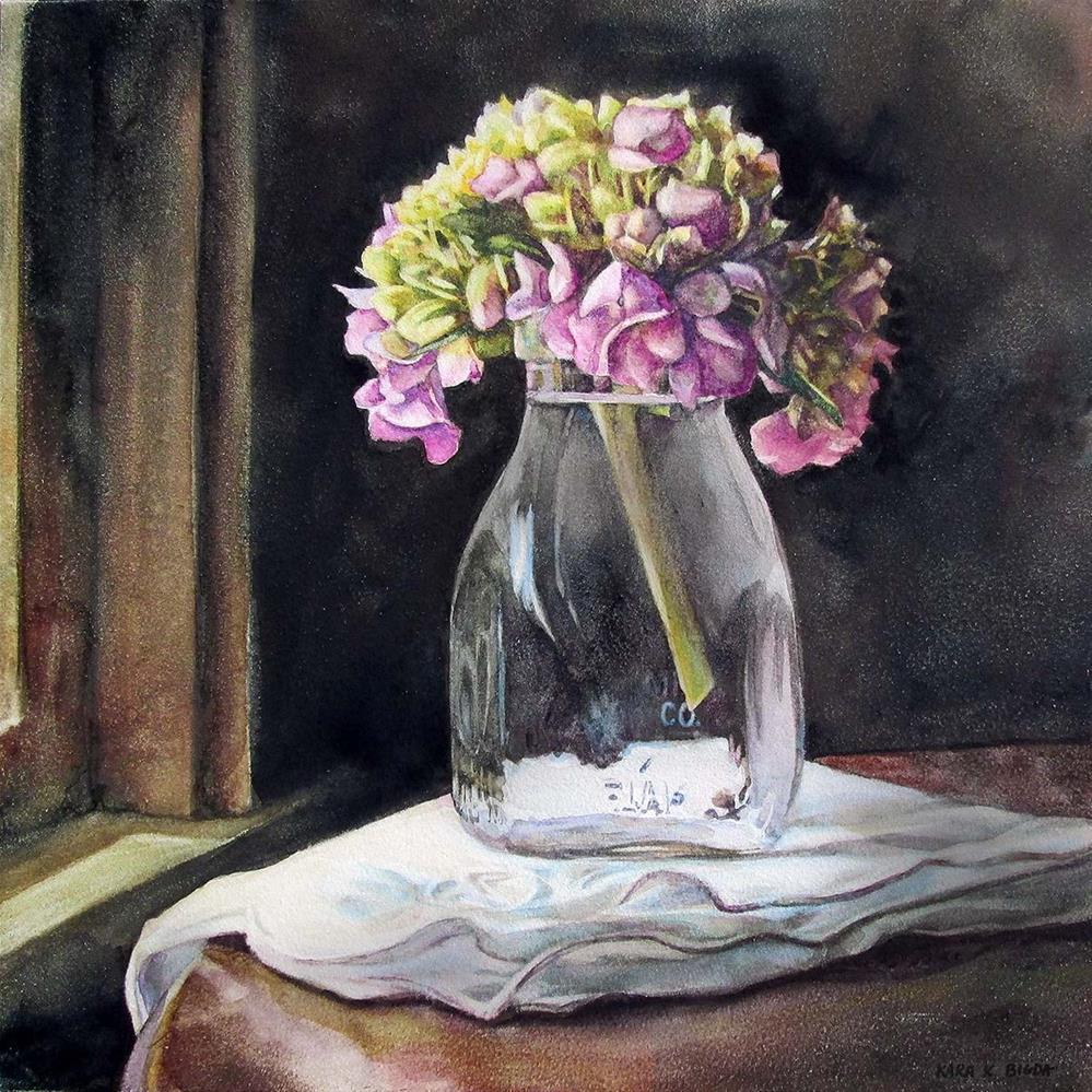 """""""Old Fashioned Hydrangea"""" original fine art by Kara K. Bigda"""