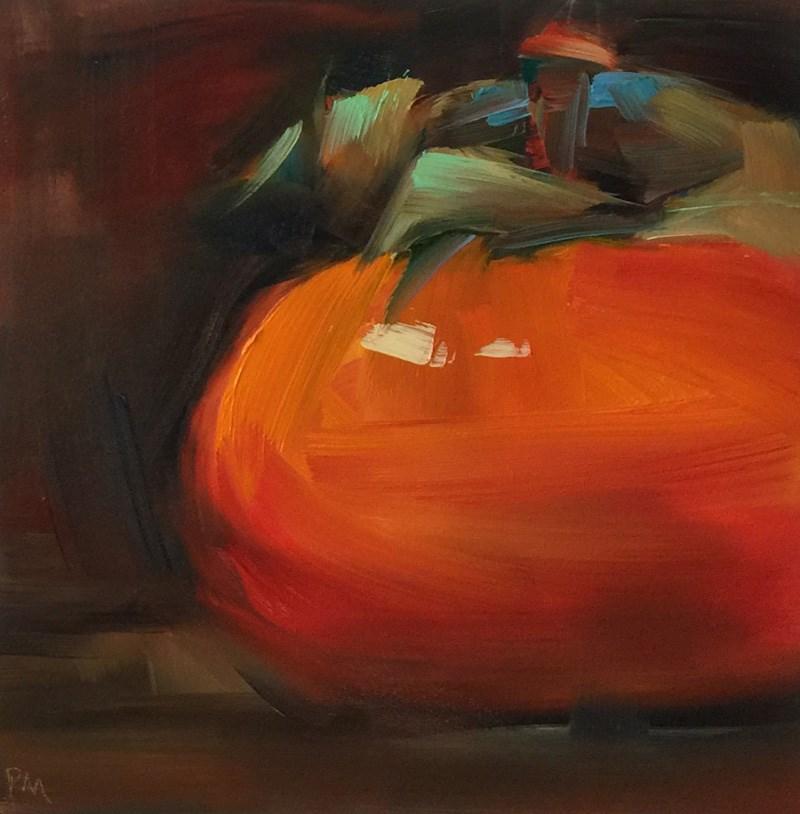 """The Polished Persimmon"" original fine art by Patti McNutt"