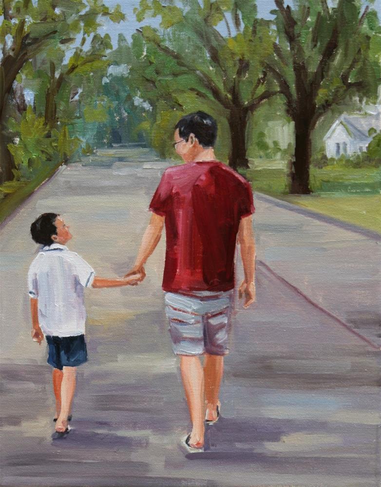 """holding tight"" original fine art by Carol Carmichael"