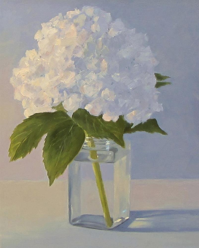 """""""Hydrangea"""" original fine art by Karen Johnston"""