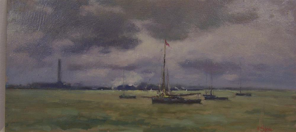 """Working Boats"" original fine art by John Shave"