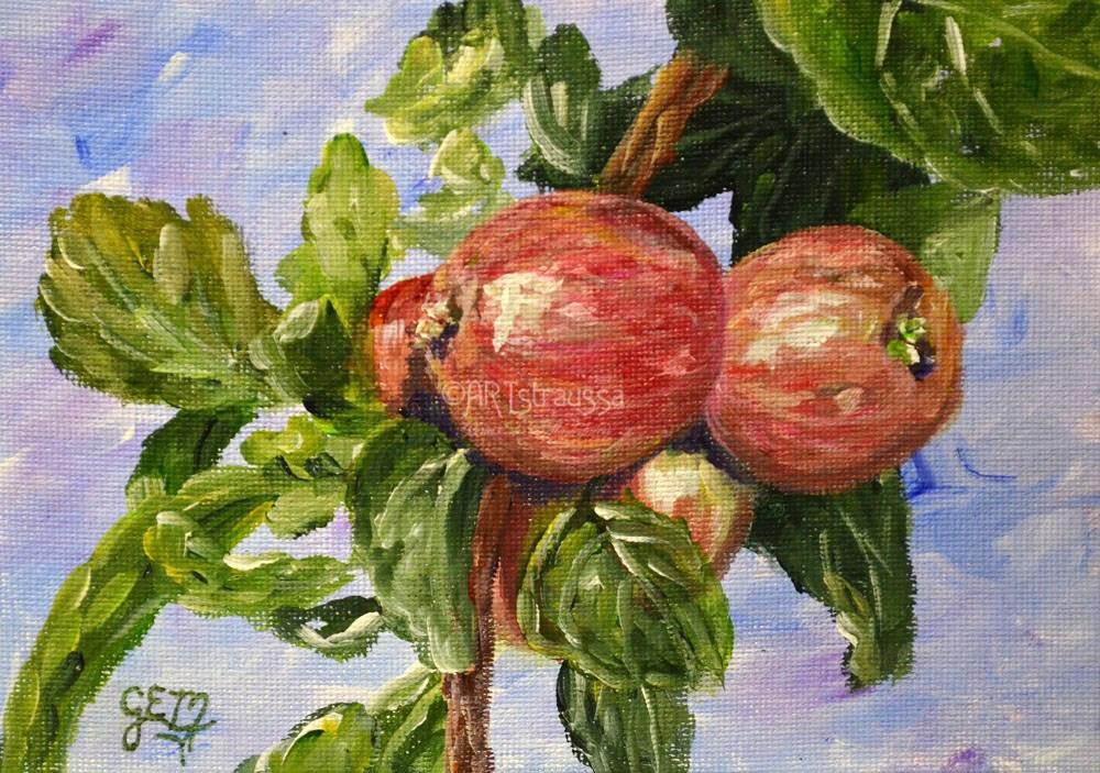 """""""Apple Cluster"""" original fine art by Gloria Ester"""