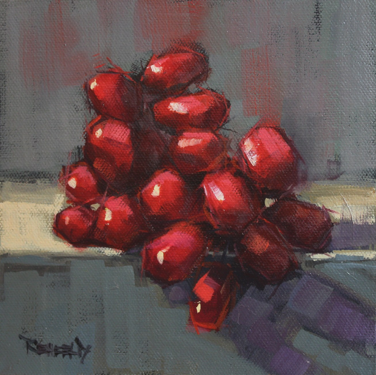 """Very Red Grapes"" original fine art by Cathleen Rehfeld"