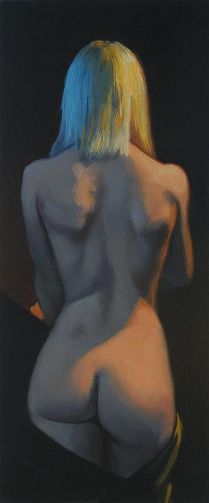"""Nude back"" original fine art by Peter Orrock"