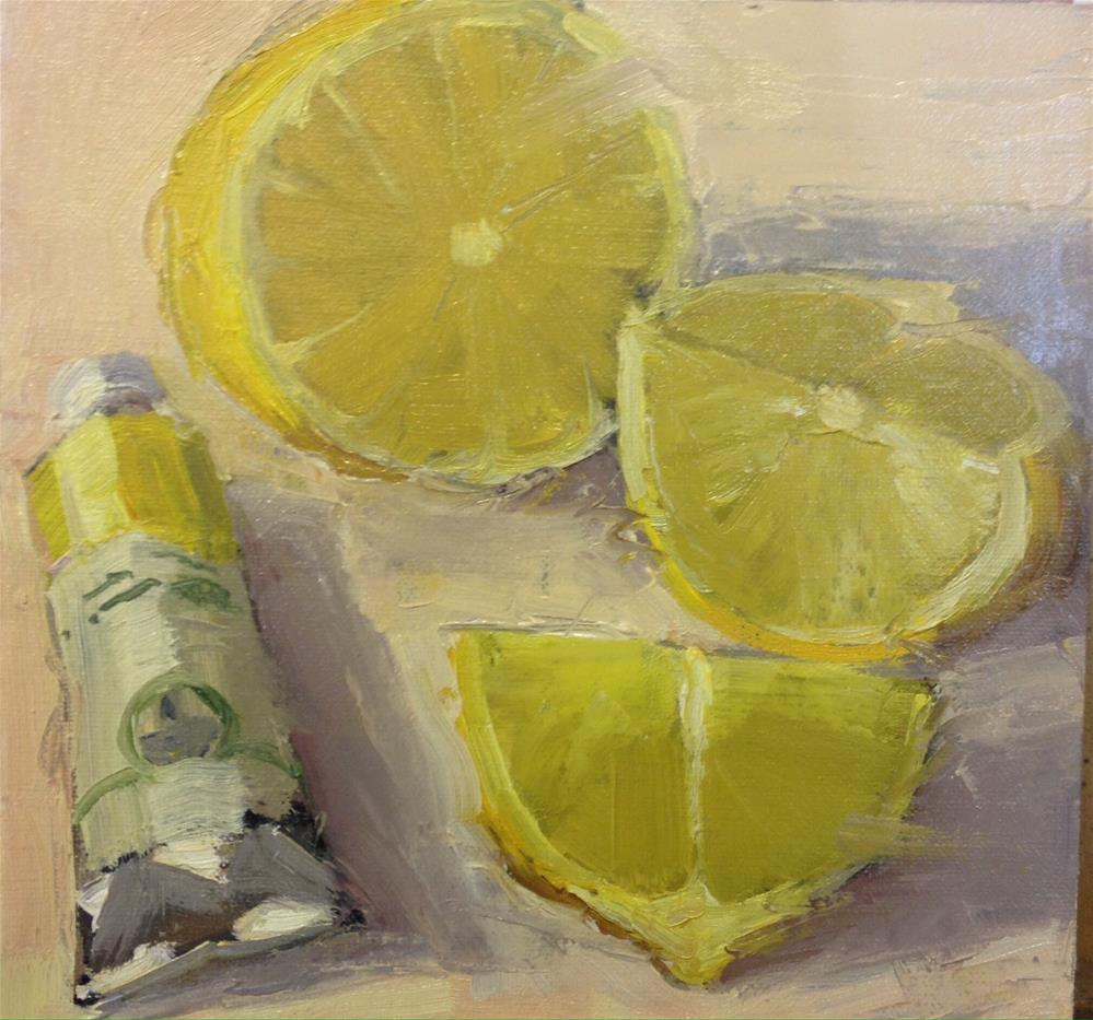 """Lemons"" original fine art by Mo Teeuw"