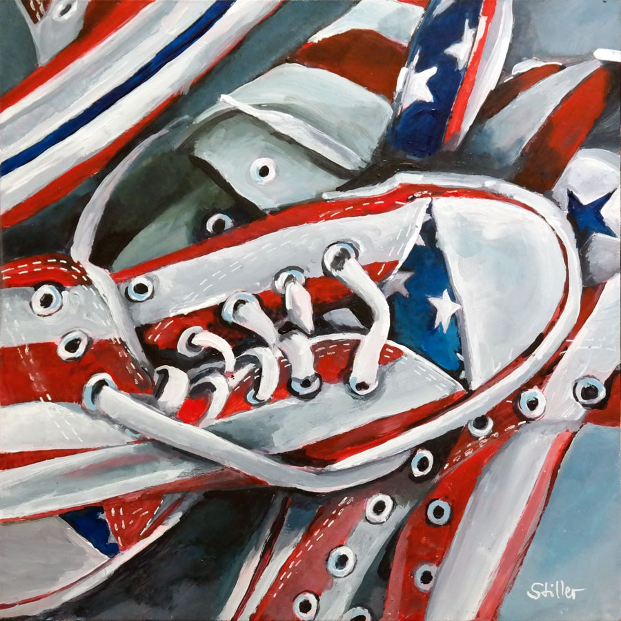 """2338 Chucks 'n Stripes"" original fine art by Dietmar Stiller"