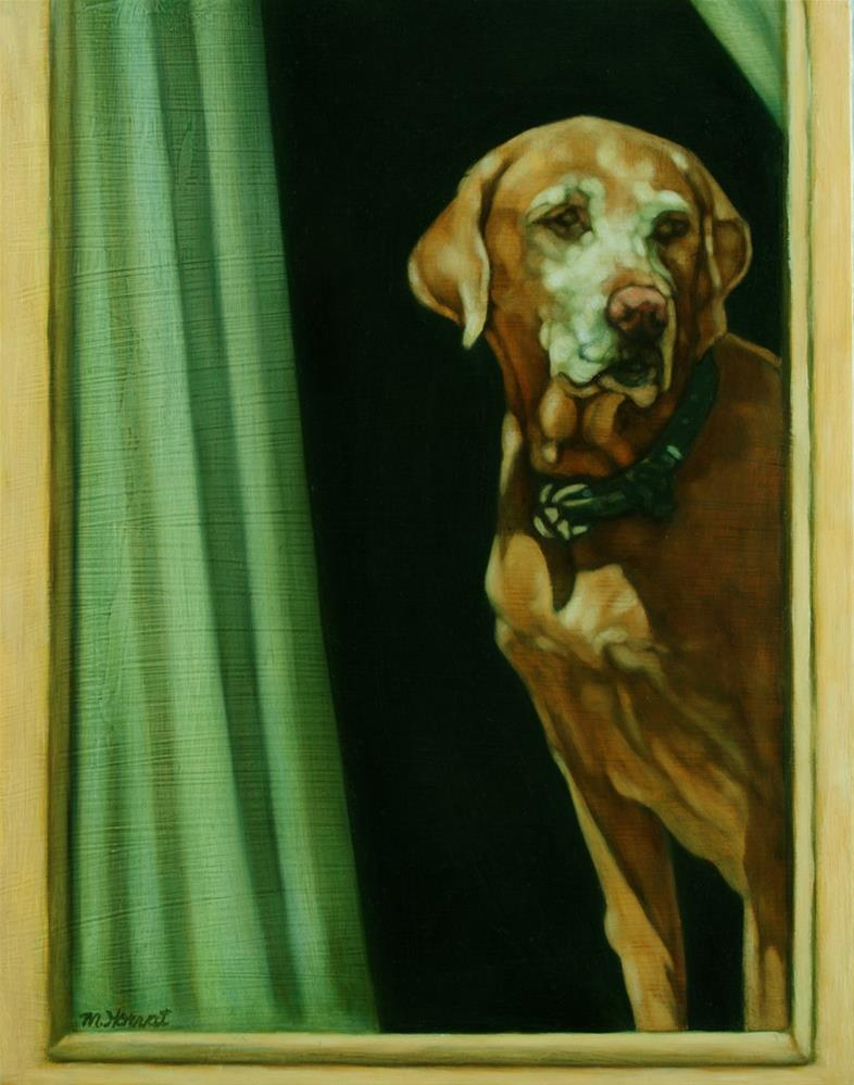 """""""How Sad is that Doggie in the Window?"""" original fine art by Margaret Horvat"""