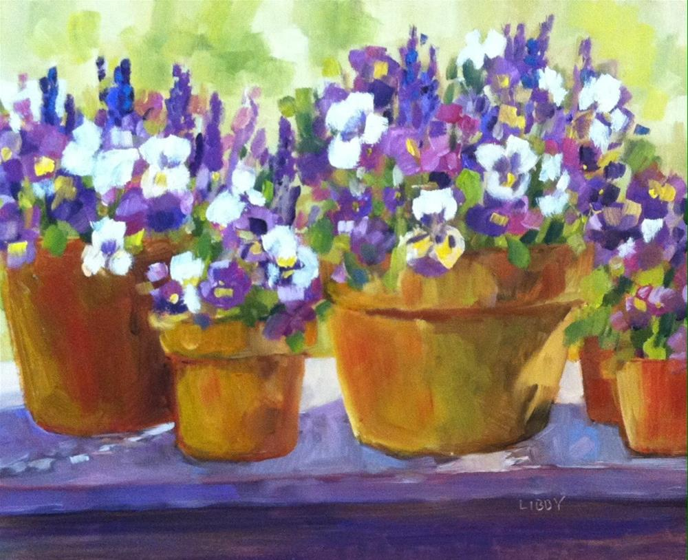 """""""Pansy Parade"""" original fine art by Libby Anderson"""
