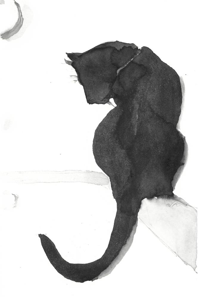 """Daily Cat 37"" original fine art by Jean Krueger"