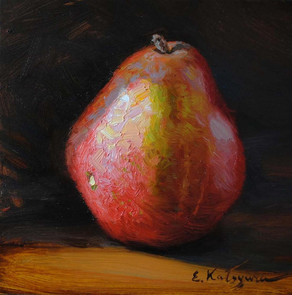 """Pear"" original fine art by Elena Katsyura"