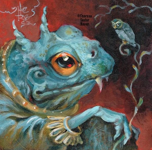 """Wisdom Cometh"" original fine art by Theresa Taylor Bayer"