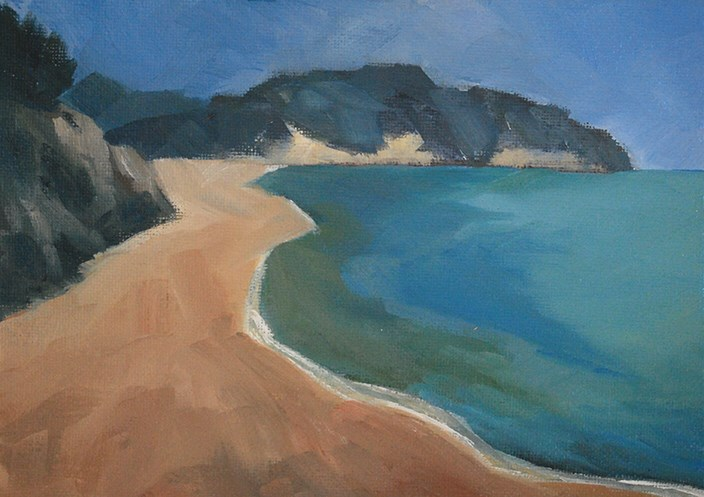 """Sun and Sand"" original fine art by J M Needham"
