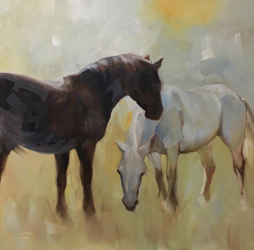"""""""When Days Were Golden"""" original fine art by Elaine Juska Joseph"""
