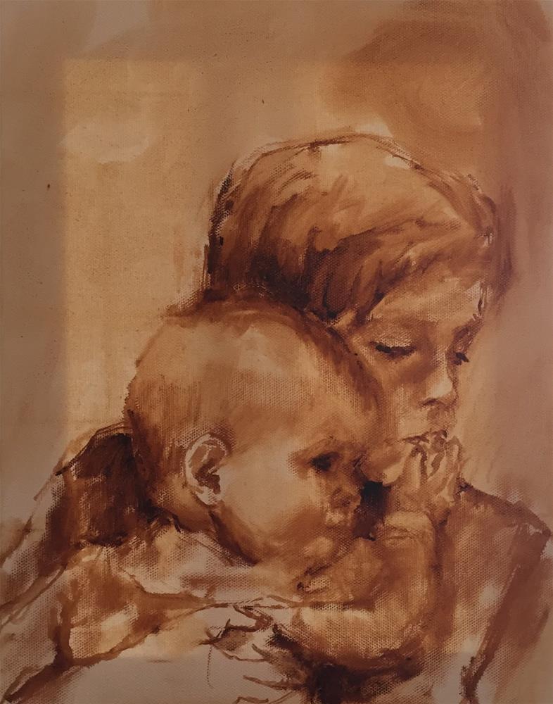 """The Beginning"" original fine art by Marcia Hodges"