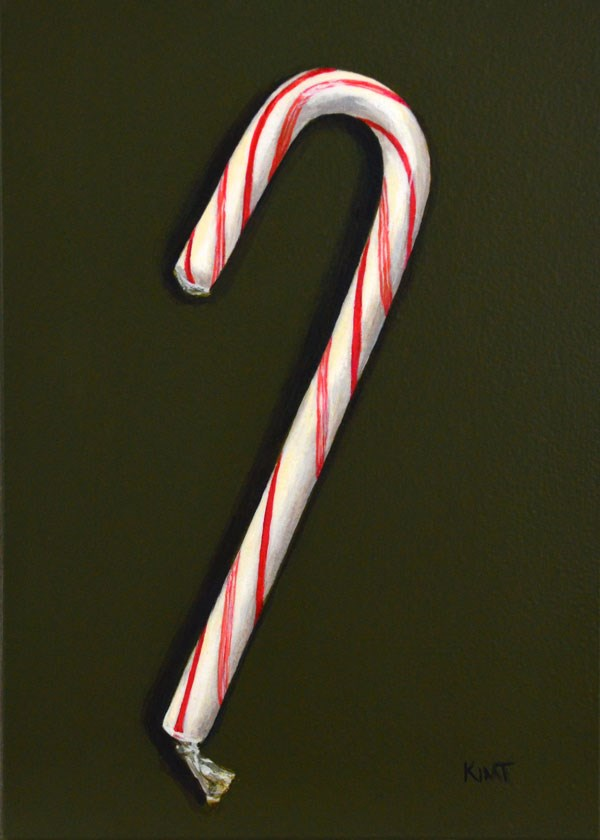 """Holiday Candy Cane"" original fine art by Kim Testone"