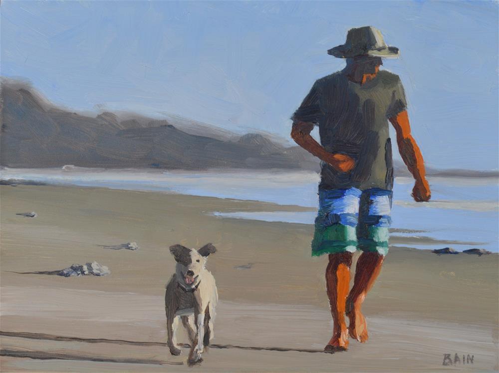 """Morning Run"" original fine art by Peter Bain"