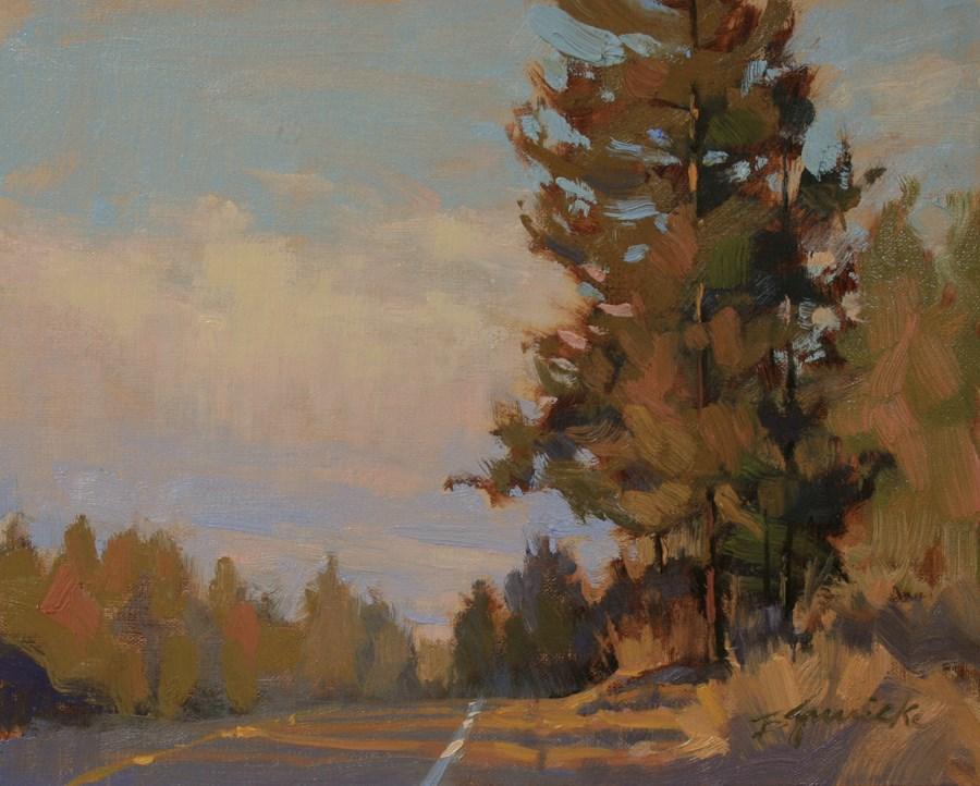 """Morning Shadows Across 15th Street"" original fine art by Barbara Jaenicke"