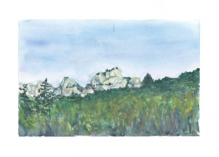 """""""Rock Formation in Provence"""" original fine art by Laura Denning"""