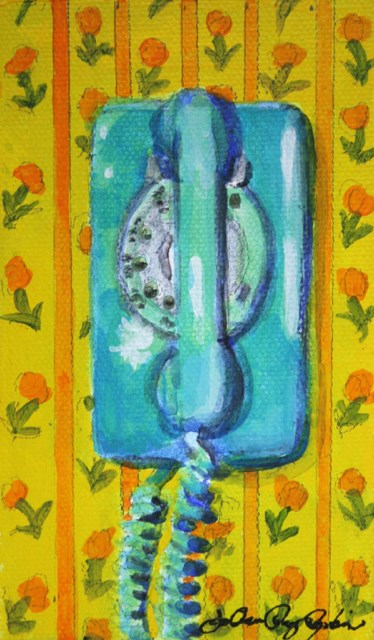 """""""Only One, in the Kitchen"""" original fine art by JoAnne Perez Robinson"""