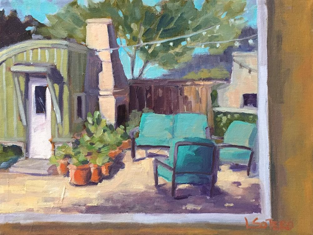 """""""View from my Easel"""" original fine art by Lisa Sotero"""