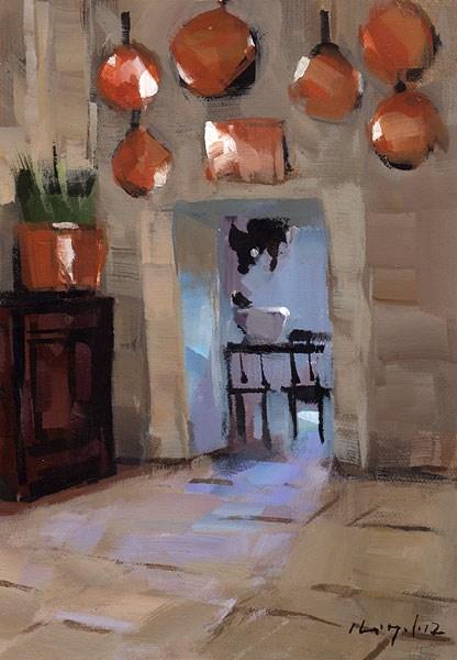 """""""Copper Pots - Quick Study"""" original fine art by David Lloyd"""