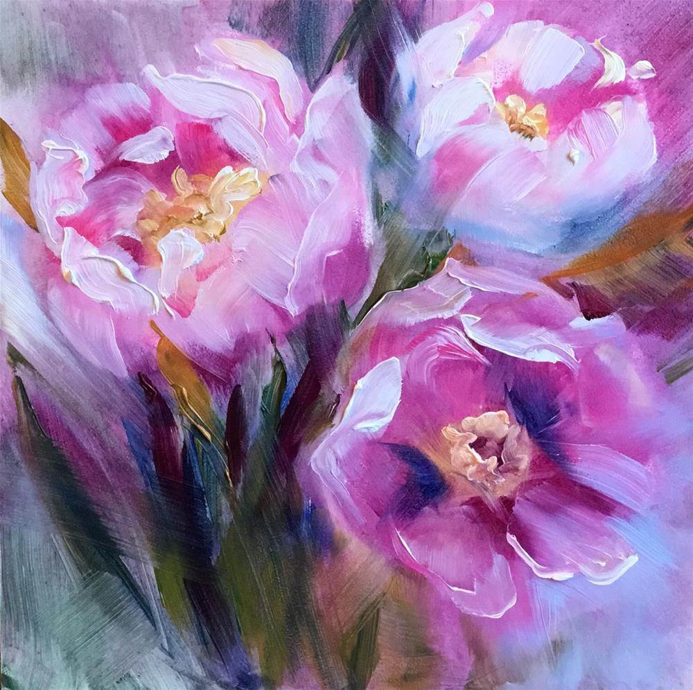 """Dusty Pink Peonies"" original fine art by Charlotte Fitzgerald"