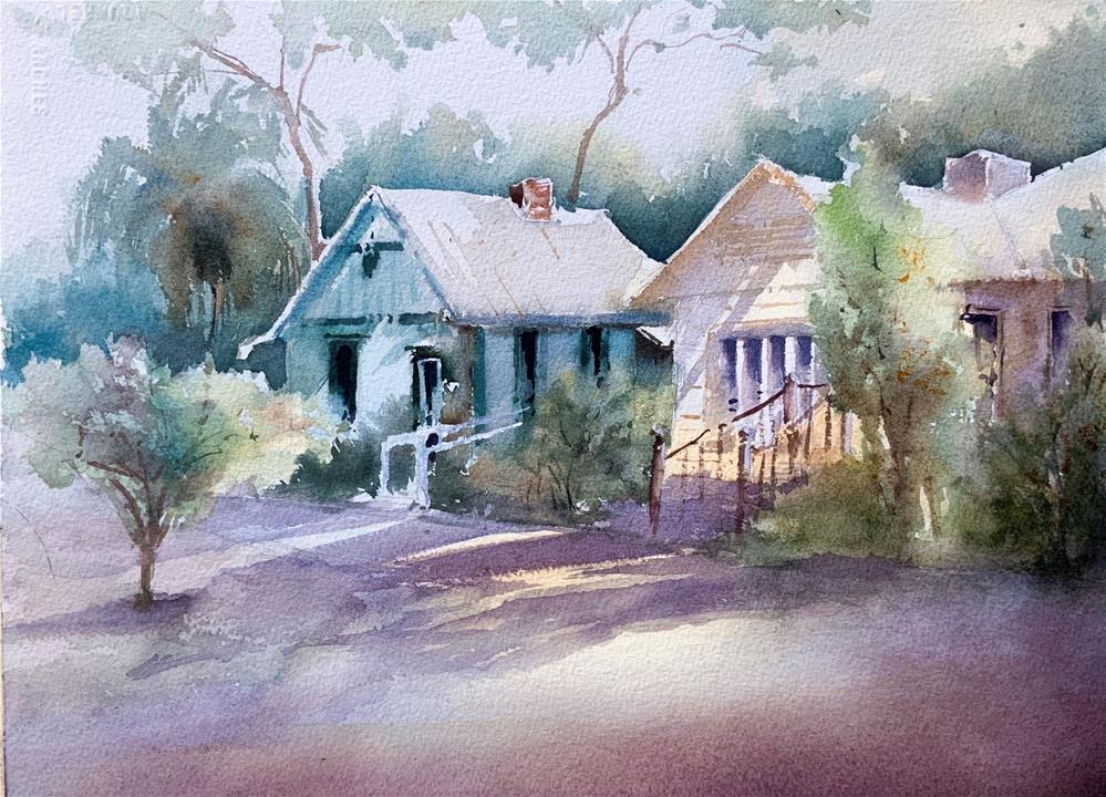 """History Park Punta Gorda Florida"" original fine art by Christa Friedl"