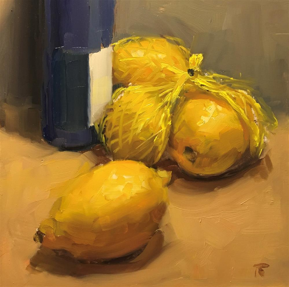 """Lemon Series: 2. The Escape"" original fine art by Thomas Ruckstuhl"