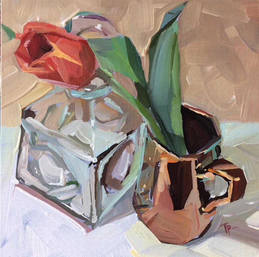 """""""Tulips and Copper No.2"""" original fine art by Teddi Parker"""
