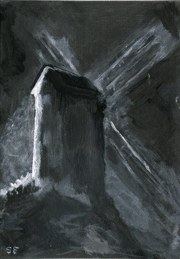 """Mill Noir"" original fine art by Stanley Epperson"