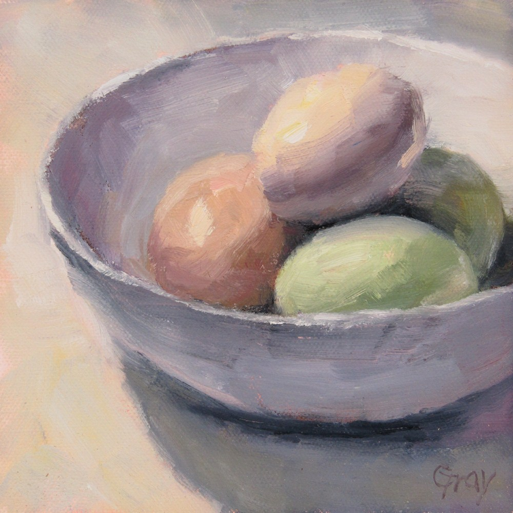 """Painted Eggs"" original fine art by Naomi Gray"