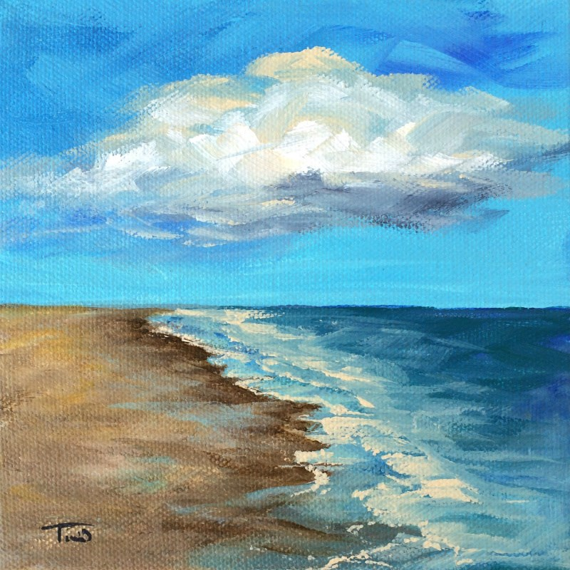 """""""Cloudy Day"""" original fine art by Torrie Smiley"""