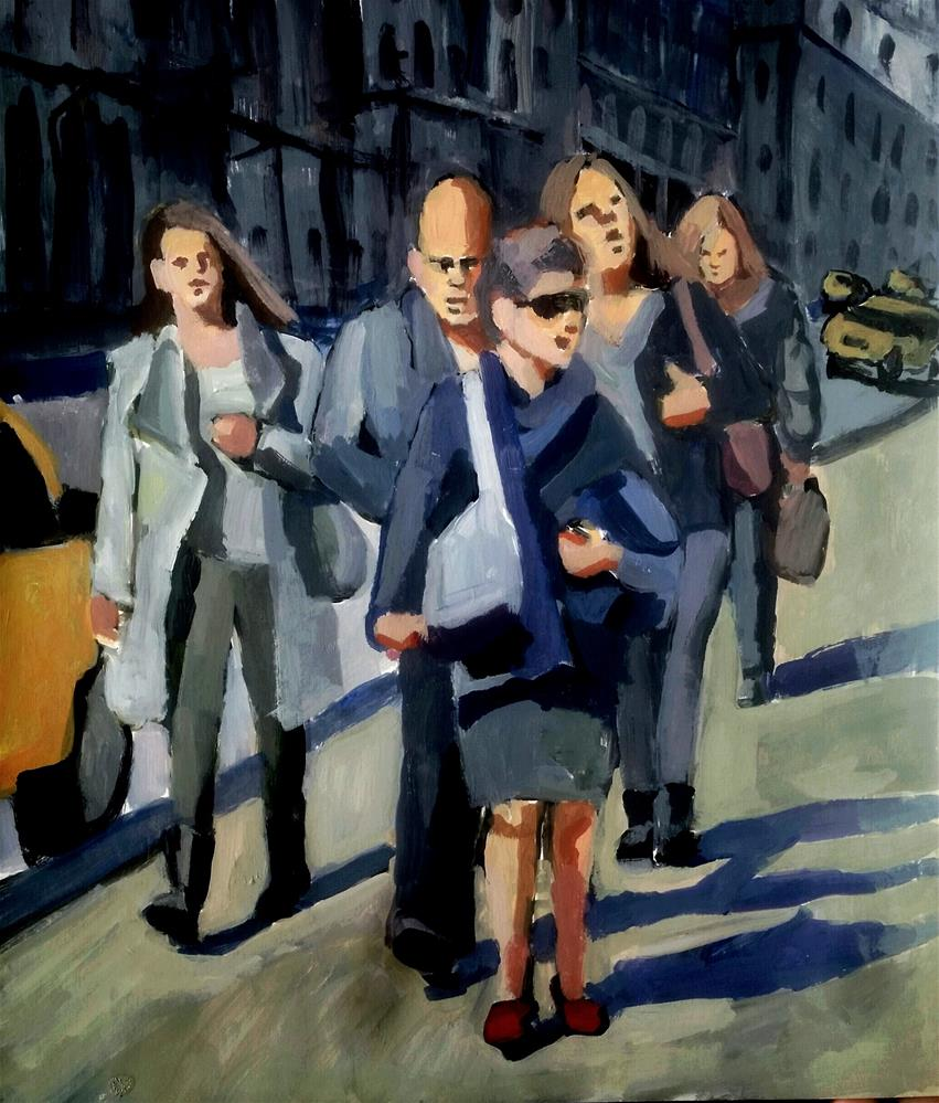 """New York Crowd"" original fine art by Liz Maynes"