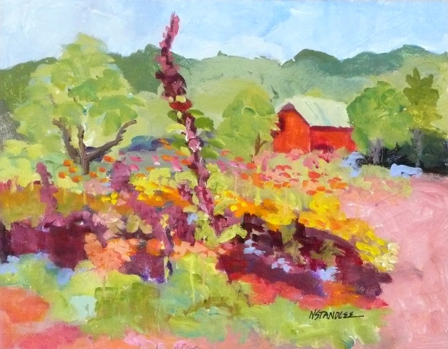 """Oak Hill Farms 11069"" original fine art by Nancy Standlee"