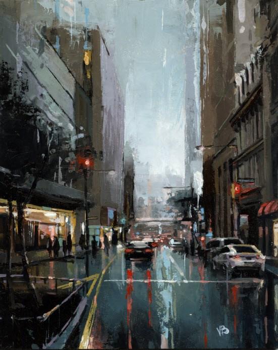 """""""Maiden Lane NYC"""" original fine art by Victor Bauer"""