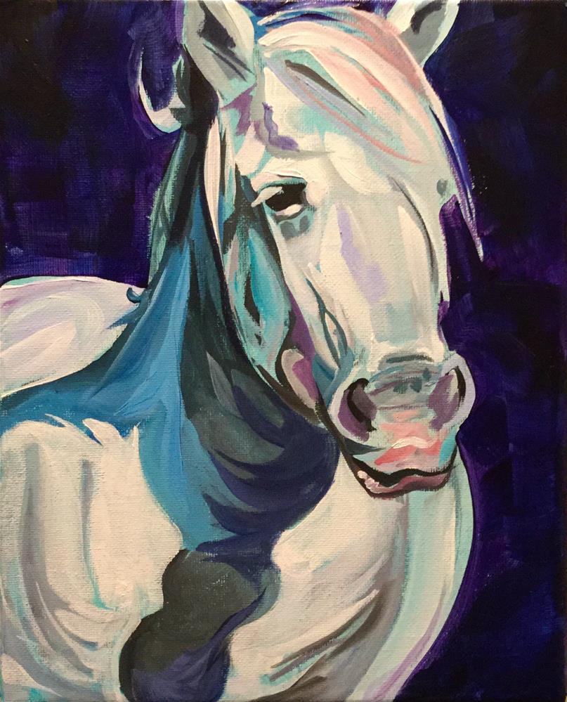 """Turquiose Lady"" original fine art by Lauren Kuhn"