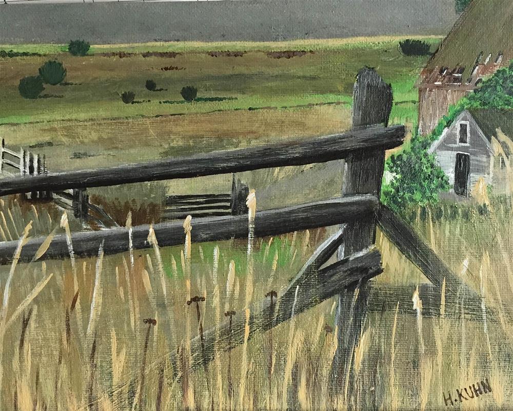 """""""Green Fields"""" original fine art by Helen Kuhn"""