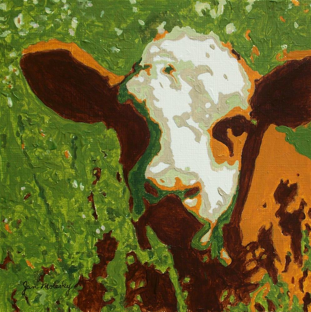 """Calf Selfie"" original fine art by Jan Molesky"