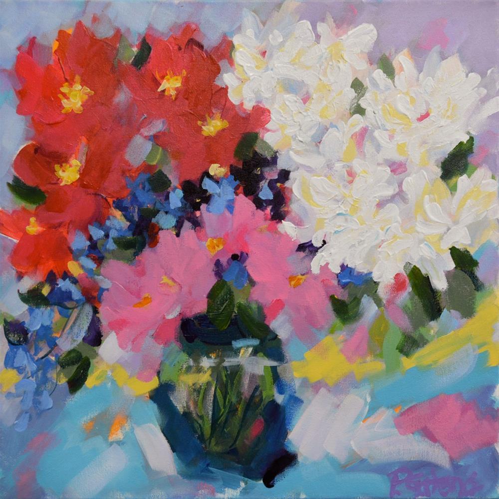 """Phyl's Flowers"" original fine art by Pamela Gatens"