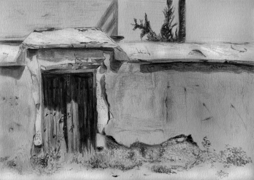 """Door at Menara"" original fine art by Ulrike Miesen-Schuermann"