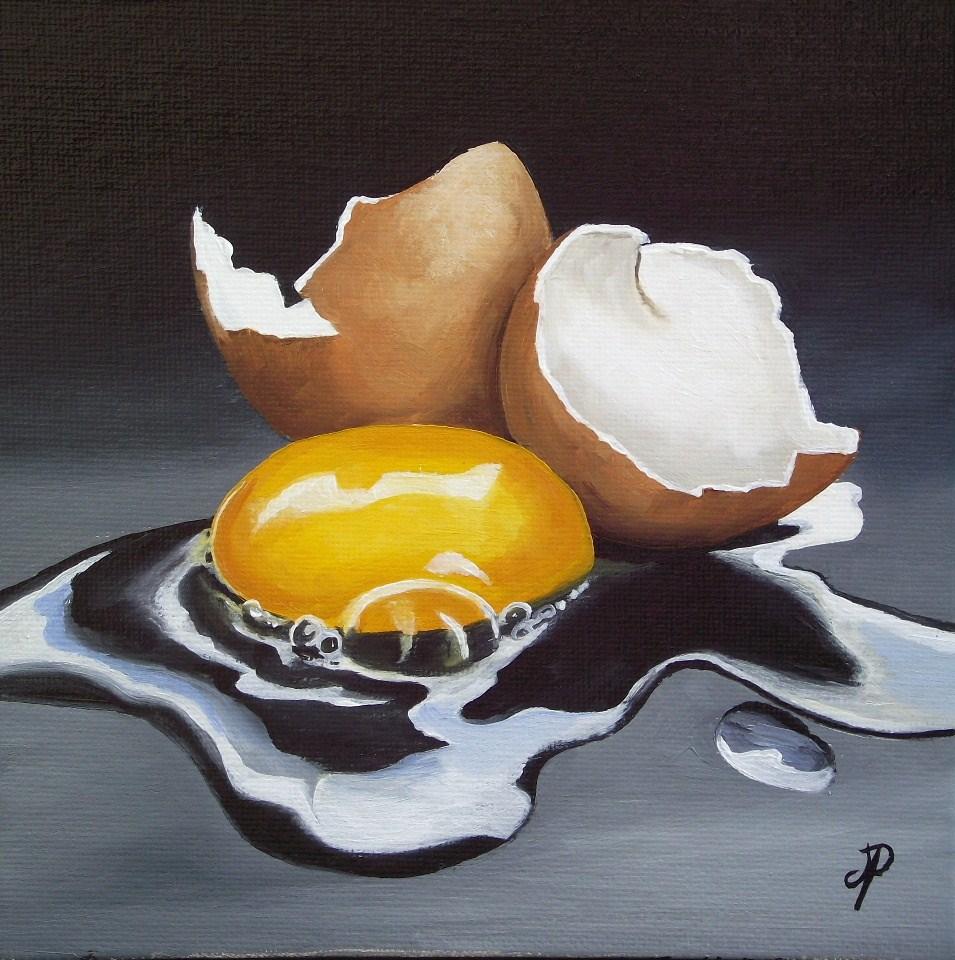 """Egg #4"" original fine art by Jane Palmer"