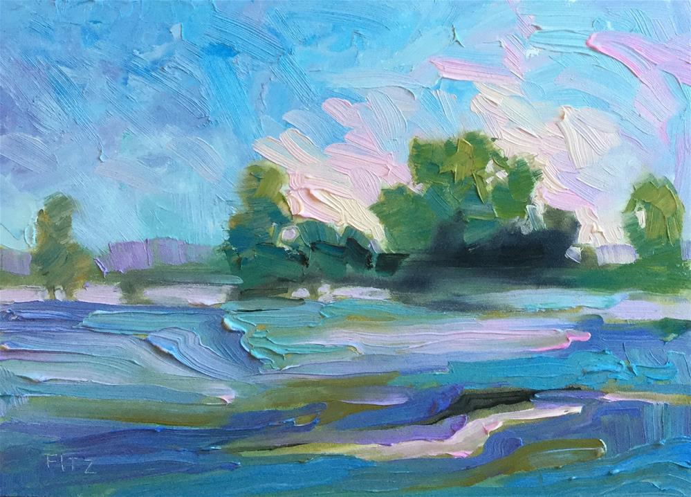 """Land, Sky, Water"" original fine art by Charlotte Fitzgerald"