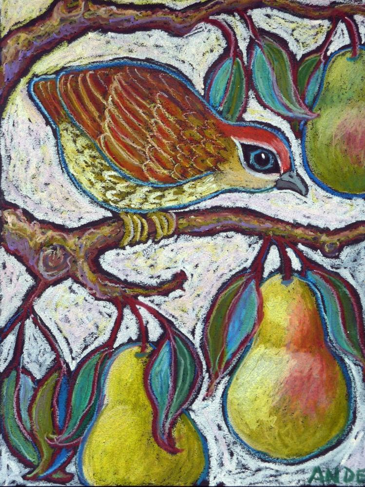 """""""Partridge in a Pear Tree 3"""" original fine art by Ande Hall"""