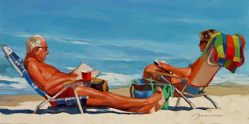 """Sunshine Library"" original fine art by Joanna Bingham"
